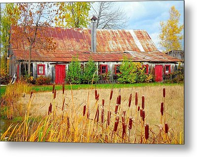 Colorful Barn ... Metal Print by Juergen Weiss