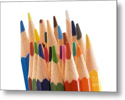 Colorful Pencils Metal Print by Soultana Koleska