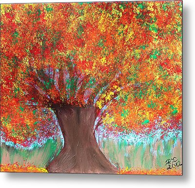 Colors Of Fall Metal Print by Paulette Ingersoll