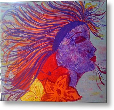 Coloured Beauty Metal Print by Judi Goodwin