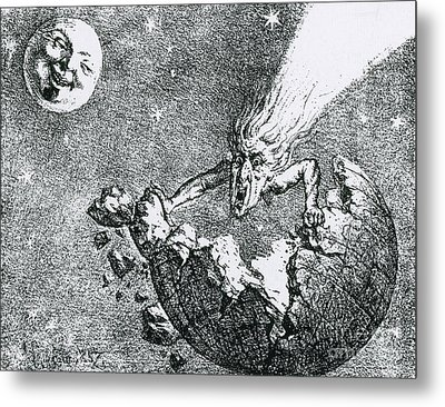 Comet Apocalypse, 1857 Metal Print by Science Source