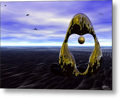 Coming Back For The Treasure Metal Print by Julie Grace