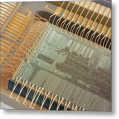 Computer Chip, Sem Metal Print by Power And Syred