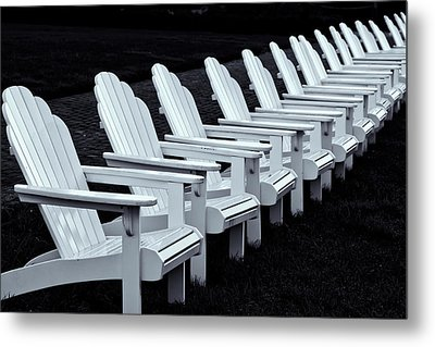 Metal Print featuring the photograph Congress Hall Chairs by Tom Singleton