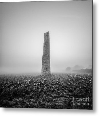 Cornish Mine Chimney Metal Print by John Farnan