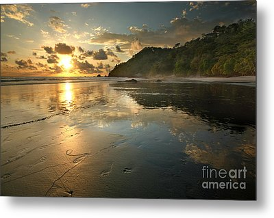 Costa Rican Beach At Sunset Metal Print by Matt Tilghman