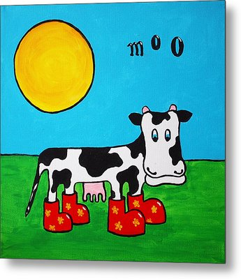 Cow Metal Print by Sheep McTavish