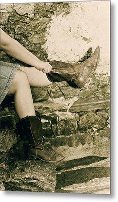Cowboy Boots Metal Print by Joana Kruse