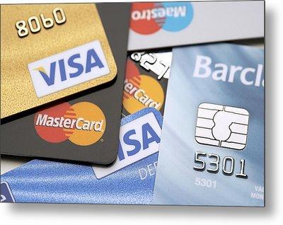 Credit Cards Metal Print by Jon Stokes