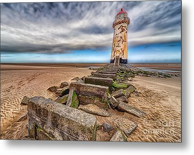 Crooked Lighthouse  Metal Print by Adrian Evans