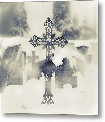 Cross Metal Print by Joana Kruse