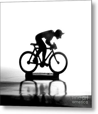 Cyclist Metal Print by Bernard Jaubert