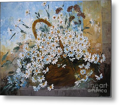 Daisies Metal Print by AmaS Art