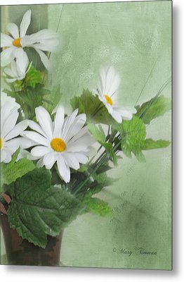 Metal Print featuring the photograph Daisies by Mary Timman