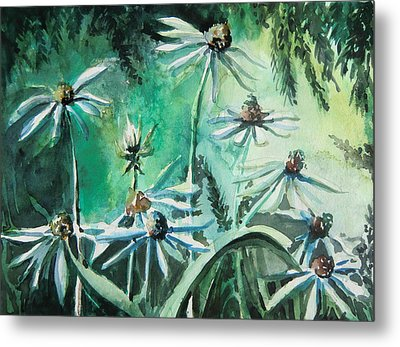 Dancing With Daisies Metal Print by Mindy Newman
