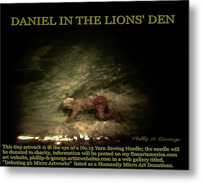 Daniel In The Lion's Den Info Photo No.1  Metal Print by Phillip H George