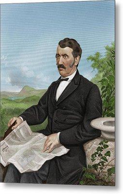David Livingstone, Scottish Explorer Metal Print by Maria Platt-evans