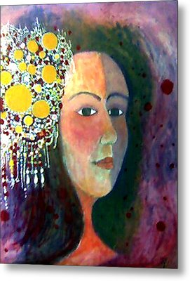 Metal Print featuring the painting Debutante by Monica Furlow