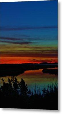 Deep Marshland Sunset Metal Print by William Bartholomew
