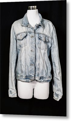Denim Jacket Metal Print by Joana Kruse