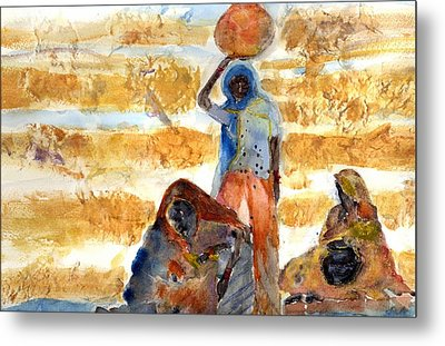 Metal Print featuring the painting Desert Diva's by MaryAnne Ardito