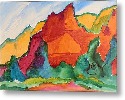 Desert Mountains Metal Print
