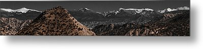 Metal Print featuring the photograph Desert Snow by Atom Crawford