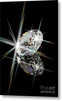 Diamond Metal Print by Atiketta Sangasaeng