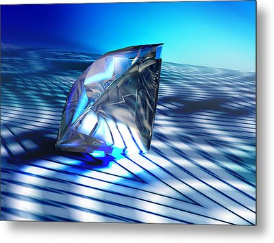 Diamond, Computer Artwork Metal Print by Pasieka
