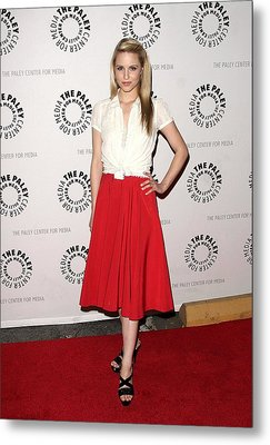 Dianna Agron At Arrivals For Glee Metal Print by Everett