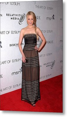 Dianna Agron At Arrivals For The Art Metal Print by Everett
