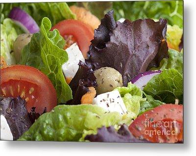 Dinner Salad Metal Print by Charlotte Lake
