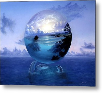 Dolphin Dreams Metal Print