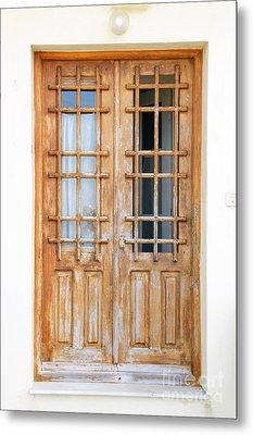 Doors In Greece Metal Print by Maria Varnalis