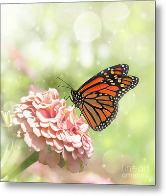 Dreamy Monarch Butterfly Metal Print