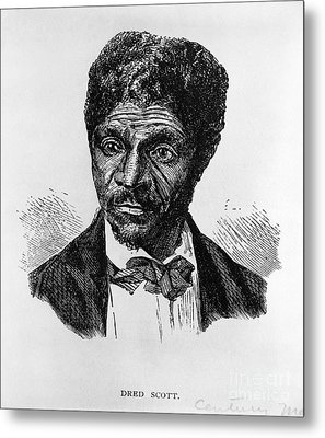 Dred Scott, African-american Hero Metal Print by Photo Researchers