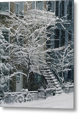 Drolet Street In Winter, Montreal Metal Print by Yves Marcoux