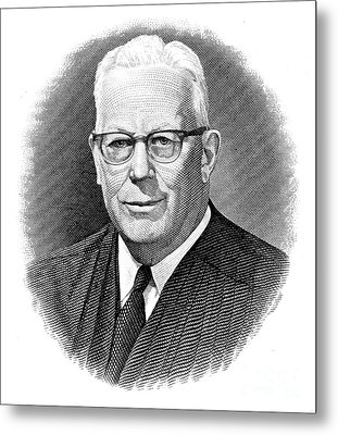 Earl Warren (1891-1974) Metal Print by Granger