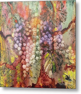 Metal Print featuring the painting Early Harvest by Karen Fleschler