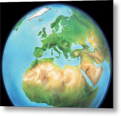 Earth, Artwork Metal Print by Gary Hincks