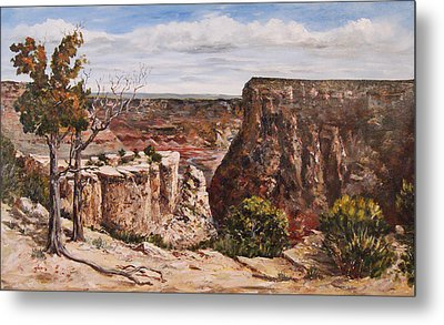 Metal Print featuring the painting Easter On The Edge by George Richardson