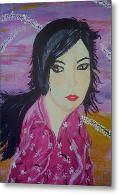 Metal Print featuring the painting Eastern Beauty by Judi Goodwin