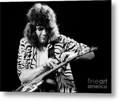 Eddie Van Halen 1984 Metal Print by Chris Walter