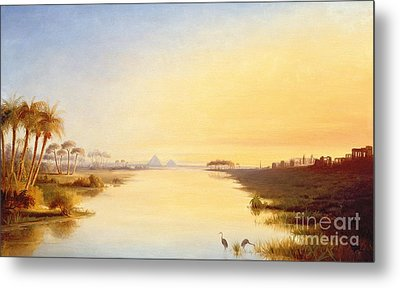 Egyptian Oasis Metal Print by John Williams