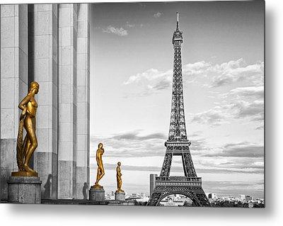 Eiffel Tower Paris Trocadero Metal Print