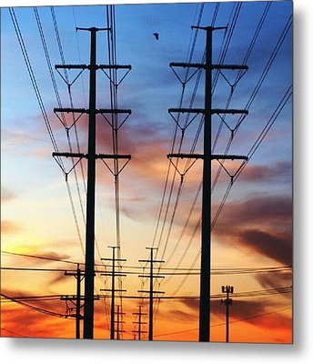 Electric Sunset Metal Print by James Granberry