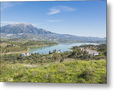 Embalse De La Viñuela, Vinuela Reservoir, Spain Metal Print by Ken Welsh