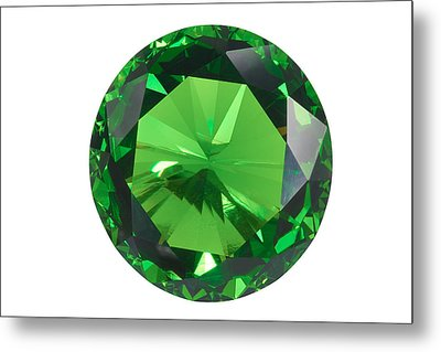 Emerald Isolated Metal Print