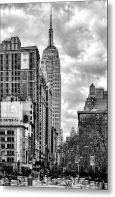 Empire State Building Metal Print by Michael Dorn