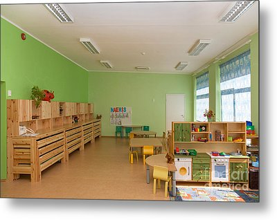 Empty Estonian Elementary Grade School Metal Print by Jaak Nilson